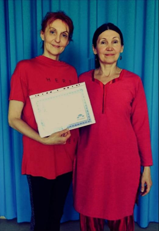 Juunis 2019 reiki meister-õpetaja astme lõpetanud Maire Sirkel ja reikiõpetaja Reet Karro